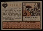 1962 Topps #376   Bud Daley Back Thumbnail