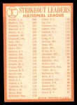 1964 Topps #5  NL Strikeout Leaders  -  Sandy Koufax / Jim Maloney / Don Drysdale Back Thumbnail