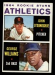 1964 Topps #388   Athletics Rookie Stars  -  George Williams / John O'Donghue Front Thumbnail