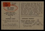 1954 Bowman #127  Joe Koch  Back Thumbnail