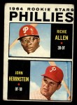1964 Topps #243  Phillies Rookies  -  Rich Allen / John Herrnstein Front Thumbnail