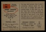 1954 Bowman #36  Bobby Cavazos  Back Thumbnail
