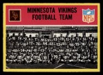 1967 Philadelphia #97   Minnesota Vikings Team Front Thumbnail