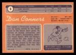 1970 Topps #6   Dan Conners Back Thumbnail