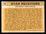 1963 Topps #306  Star Receivers    -  Earl Battey / Elston Howard Back Thumbnail