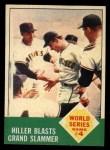 1963 Topps #145  1962 World Series - Game #4 - Hiller Blasts Grand Slammer  -  Chuck Hiller Front Thumbnail