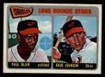 1965 Topps #473  Orioles Rookies  -  Paul Blair / Davey Johnson Front Thumbnail