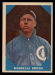 1960 Fleer #9  Mordecai Brown  Front Thumbnail