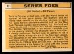 1963 Topps #331  Series Foes    -  Bill Stafford / Bill Pierce Back Thumbnail
