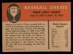 1961 Fleer #98   Frank Chance Back Thumbnail