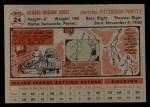 1956 Topps #24  Dick Groat  Back Thumbnail