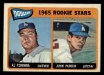 1965 Topps #331   Dodgers Rookie Stars  -  Al Ferrara / John Purdin Front Thumbnail
