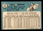1965 Topps #410   Luis Aparicio Back Thumbnail