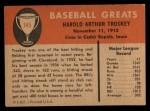1961 Fleer #145   Hal Troskey Back Thumbnail