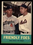 1963 Topps #68  Friendly Foes  -  Duke Snider / Gil Hodges Front Thumbnail