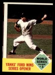 1963 Topps #142  1962 World Series - Game #1 - Yanks' Ford Wins Series Opener  -  Whitey Ford Front Thumbnail