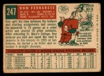 1959 Topps #247   Don Ferrarese Back Thumbnail