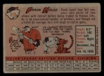 1958 Topps #318   Frank House Back Thumbnail