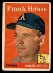 1958 Topps #318   Frank House Front Thumbnail