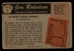1955 Bowman #5  Jim Robertson  Back Thumbnail