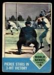 1963 Topps #147   -  Billy Pierce / Roger Maris 1962 World Series - Game #6 - Pierce Stars in 3-Hit Victory Front Thumbnail
