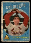 1959 Topps #309   Sal Maglie Front Thumbnail