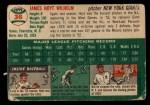 1954 Topps #36   Hoyt Wilhelm Back Thumbnail