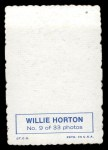 1969 Topps Deckle Edge #9   Willie Horton   Back Thumbnail