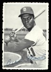 1969 Topps Deckle Edge #28   Curt Flood Front Thumbnail