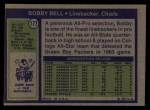 1972 Topps #177   Bobby Bell Back Thumbnail