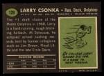 1969 Topps #120   Larry Csonka Back Thumbnail