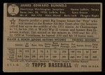 1952 Topps #2 BLK Pete Runnels  Back Thumbnail