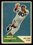 1960 Fleer #68   Mike Simmons Front Thumbnail