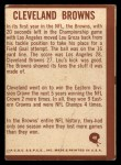 1967 Philadelphia #48  Browns Logo  Back Thumbnail