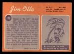 1970 Topps #116   Jim Otto Back Thumbnail
