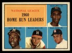 1961 Topps #43  NL HR Leaders  -  Hank Aaron / Ernie Banks / Ken Boyer / Eddie Mathews Front Thumbnail