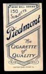 1909 T206 #91   Fred Clarke Back Thumbnail