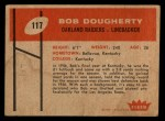 1960 Fleer #117   Bob Dougherty Back Thumbnail