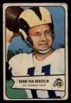 1954 Bowman #8   Norm Van Brocklin Front Thumbnail