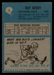 1964 Philadelphia #1   Raymond Berry   Back Thumbnail