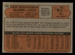 1972 Topps #160   Andy Messersmith Back Thumbnail