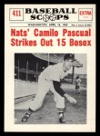 1961 Nu-Card Scoops #411    Camilo Pascual  Front Thumbnail