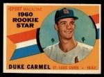 1960 Topps #120  Rookie Stars  -  Duke Carmel Front Thumbnail