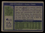1972 Topps #61  Jan Stenerud  Back Thumbnail