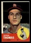 1963 Topps #98   George Thomas Front Thumbnail