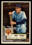 1952 Topps #296   Red Rolfe Front Thumbnail