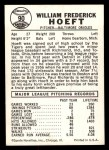 1960 Leaf #90  Billy Hoeft  Back Thumbnail