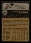 1973 Topps #444   Ken Brett Back Thumbnail