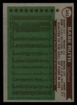 1976 Topps #345  All-Time All-Stars  -  Babe Ruth Back Thumbnail