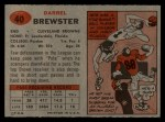 1957 Topps #40   Pete Brewster Back Thumbnail
